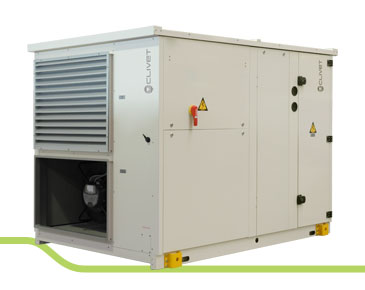 Monoblock unit for air renewal and purification with active thermodynamic recovery